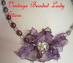 vintage beading items ...Some still intact & wearable