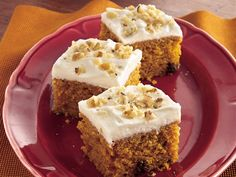 Pumpkin-spice bars with cream cheese frosting