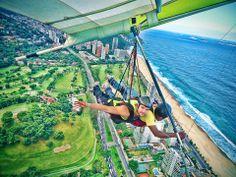 Hang gliding over Rio.