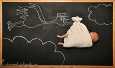 The Blackboard Baby Adventures ! | Just Imagine - Daily Dose of Creativity @Katelyn Moffett  These are cute. :)