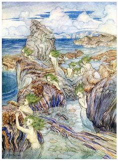 They have sea-green hair. Arthur Rackham,...