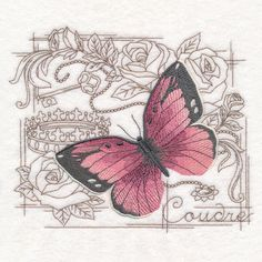 Shabby Chic Collage - Butterfly