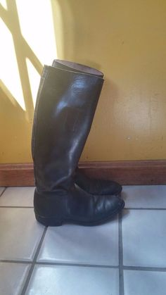 """Mens """"vintage"""" Equestrian horse riding boots sz 9-9.5 VERY EARLY"""