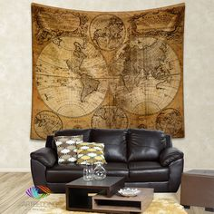 Vintage world map wall tapestry vintage interior world map wall vintage orld map wall tapestry historical world map wall hanging antique old map wall gumiabroncs Images
