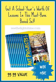 Win an Art Projects Lesson Set on DVD #homeschool