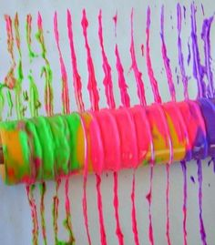 art activities for kids with yarn and color