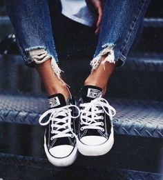 2617af9dfa9 Converse All Star Chuck Taylor Ox Womens Trainers Shoes in Black White -  Converse All Star Ox Trainers The original basketball shoe