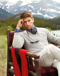 Hit the slopes and then warm up by the fire in transitional Polo gear