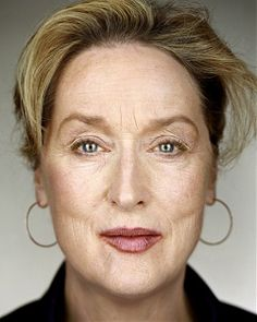 Martin Schoeller, Meryl Streep, Close Up, 2006. Represented by Hasted Kraeutler gallery in NY