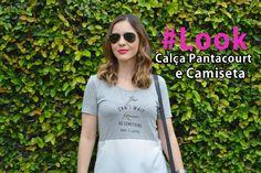 Look usando Calça Pantacourt e Camiseta