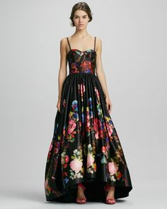 Addie Floral-Print High-Low Gown by Alice + Olivia at Bergdorf Goodman.
