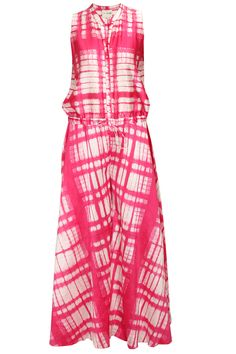 Fuchsia and white tie dye jumpsuit available only at Pernia's Pop-Up Shop.