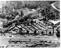 Festival of Arts 1959, Irvine Bowl(top), Forum not yet in, Tivoli Terrace(far right) Mini-ampitheater-becomes Festival stage 2017.