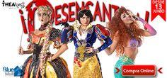Desencanta-comedia-musical-junio-julio-2015-teatro-Blue-Room-5to-nivel-Blue Mall-Broadway-satiriza-cuentos-hadas-filmes-libros-muñecas-Blanca-Nieves-Cenicienta-La-Bella-Durmiente-bestia-Mulan-La-Sirenita-Pocahontas-theamus-teatro-musical-Luis Marcel Ricart-Cristal Marie-Zeny-Leyva-Maria-del-Mar-Perez-Gabriela-Desangles-Rosa-Aurora-Lopez-Crystal-Jimenez-Rapunzel-Beatriz-Santana-Sapo-Elena-Castro-New-York-Marcos-Malespin-Estevez-obra-comedy-live-show-artes