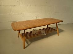 Retro Ercol Coffee Table Light Elm