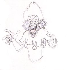 """Concept art of the gypsy Clopin from Disney's """"The Hunchback of Notre Dame"""" (1996) ✤"""
