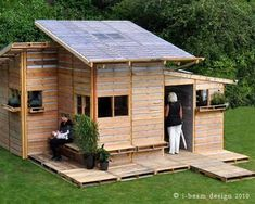 28 Cool Recycled Pallet Projects: Reuse Recycle & Repurpose Old Wooden Pallets Pallet Shed, Pallet House, Recycled Pallets, Wooden Pallets, Pin Maritime, Fb Share, Palette Diy, Building A Shed, House Built
