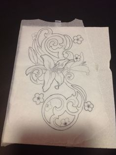 Santa Rosa Tattoo Shop. Floral design available for tattoo by me. Flower drawing. Mrgalen@sbcglobal.net for details