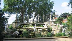"""The Oceanides"" ~ sculptor Oscar Spalmach, c.1909.  A recently restored water garden installation at York House in London."