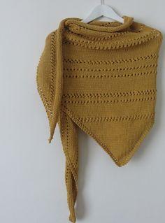 Knitted Shawls, Crochet Scarves, Handicraft, Lana, Knitting, Bonnets, Point Mousse, Ainsi, Diy