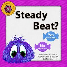 Working on steady beat with your elementary music students? Students will love this fun interactive game!  Great music education resource.