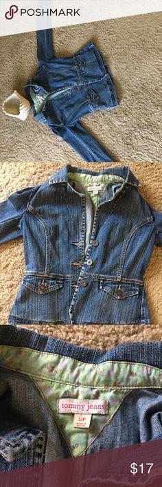 Tommy jeans jean jacket Cute feminine jean jacket. Never worn. Size small. Tommy Hilfiger Jackets & Coats Jean Jackets