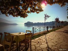 Ioannina view of lake Places In Greece, Greece Travel, Greek Islands, Amazing Destinations, The Good Place, Natural Beauty, Beautiful Places, Patio, Country