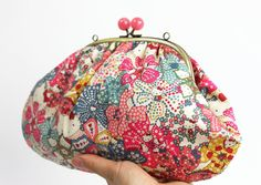 Hello Kitty Liberty Cotton Japanese Kawaii Pink Clutch by TomiBell, £57.00