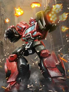 Autobot Ironhide Artwork From Transformers Legends Game