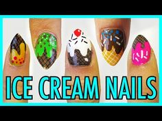 "Ice cream nails- inspired by Hyuna's song ""Ice cream""   by professor Oh... I love your channel <3"
