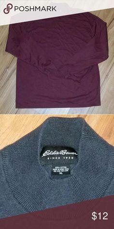 Eddie bauer Grey sweater Great condition Eddie Bauer Sweaters Turtleneck