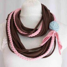 t-shirt scarf with braid