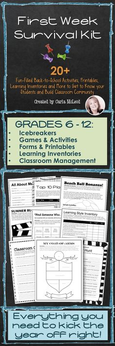 Get to know your students and their learning needs with this 35+ page packet that includes everything you need to start the year off on a high note!