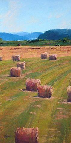 pastel painting by Susan Ogilvie: workshop July 5 - 11, 2015 Farmhouse Paintings, Farm Paintings, Mini Paintings, Pastel Paintings, Pastel Landscape, Watercolor Landscape, Landscape Art, Watercolour Painting, Landscape Paintings