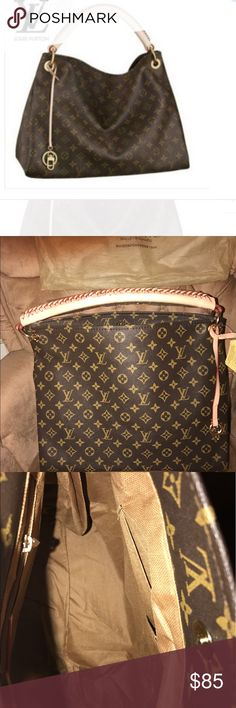 NWT HANDBAG Brown and Tan and comes with a dust cover. I have one exactly like this and get compliments constantly. Nice quality! Bags Shoulder Bags