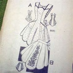 30s or 40s Vintage APRON Pattern - Embroidery Transfer - Marian Martin ...