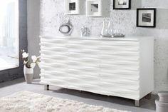 Elegantes Design Sideboard CRAZE 150cm weiss matt