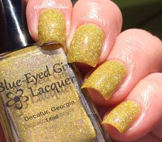 "Blue Eyed Girl Lacquer - ""Pineapple Express"" - Hlella Holo Customs - July 2016 Exclusive"