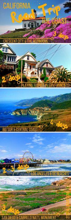 California Coast Road Trip infographic