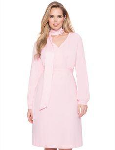 Tie Neck Dress | Women's Plus Size Fashion | ELOQUII