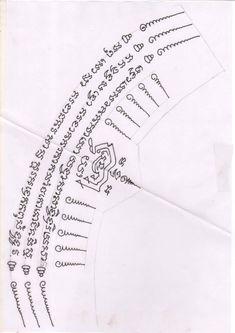 Yantra Tattoo, Sak Yant Tattoo, Sanskrit Tattoo, Buddha Tattoos, Body Art Tattoos, Sleeve Tattoos, Tattoo Fonts, Tattoo Quotes, Traditional Thai Tattoo