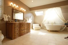 ethereal, yet eclectic bath...