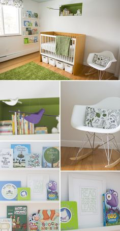 Modern Green and White Nursery