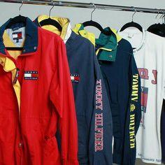 1df5c533 Tommy Hilfiger Windbreaker, Vintage Man, Vintage Jacket, Urban Fashion, 90s  Fashion,
