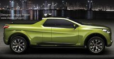 Fiat Sentiero Concept Study: Pick Up Compacto Pickup Trucks, Fiat, Concept Cars, Interior And Exterior, Vehicles, Wheels, Study, Google, Studio