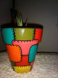 Painted Clay Pots, Painted Flower Pots, Ceramic Pots, Terracotta Pots, Diy Mugs, Ceramic Design, Dot Painting, Geometric Art, Potted Plants