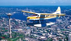 Seattle Seaplanes is a company that offers scenic tours of Seattle and the surrounding areas on Cessna airplanes that take off and make water landings on beautiful Lake Union.