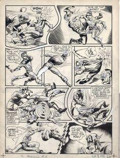 Original Comic Book Art + more: Jack Kirby Captain America 6 page 8 original comic book art