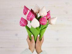 Nähanleitung: Stofftulpen Nähen // Tulpen zum Muttertag nähen