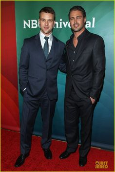 Taylor Kinney and Jesse Spencer - NBCUniversal Summer Press Day - via @Just Jared